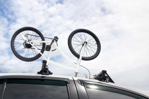 Driving into the garage with roof rack
